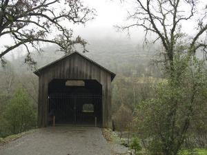 Honey Run Three-Level Covered Bridge Spanning Butte Creek, California by James Forte