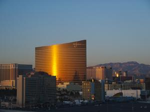 Hotels and Casinos Along the Las Vegas Strip at Sunset by James Forte