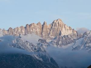 Mount Whitney Covered in Snow and Low Clouds by James Forte