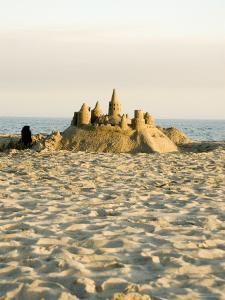 Sand Castle on East Beach, California by James Forte