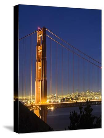 The Golden Gate Bridge and San Francisco at Night