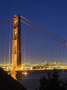 The Golden Gate Bridge and San Francisco at Night by James Forte