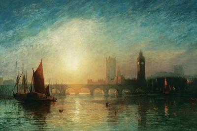View of Westminster Bridge and the Houses of Parliament by James Francis Danby