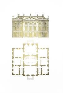Gold Foil Building Plan I by James Gibbs