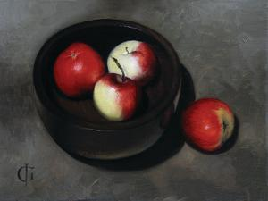 Apples in an Ebony Bowl, 2008 by James Gillick