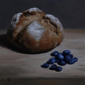 Bread and Blueberries, 2008 by James Gillick
