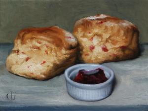 Cherry Scones and Jam, 2013 by James Gillick