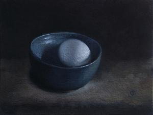 Duck Egg in Blue Bowl, 2009 by James Gillick