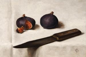 Figs and Knife by James Gillick