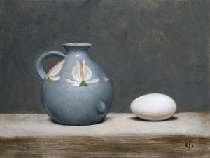 French Jug and Duck Egg, 2009 by James Gillick