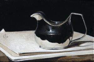 George III Silver Cream Jug, 2009 by James Gillick