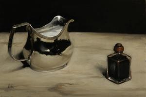 George III Silver Jug and Inkpot, 2011 by James Gillick