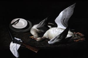 Greylag Geese, 2008 by James Gillick