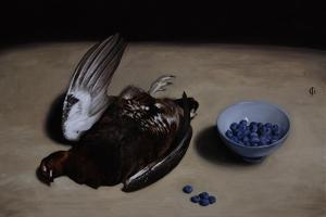 Grouse and Blueberries, 2008 by James Gillick