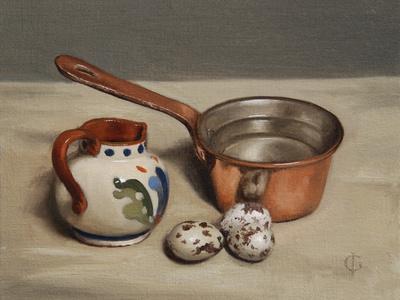 Jug, Copper Pan and Quail Eggs, 2009