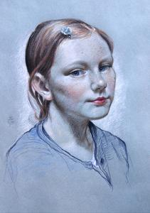 Portrait of Alice Fry Aged 10, 2008 by James Gillick
