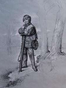Portrait of Edward Gorst Aged 10, 2008 by James Gillick