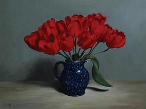Red Tulips, 2010 by James Gillick