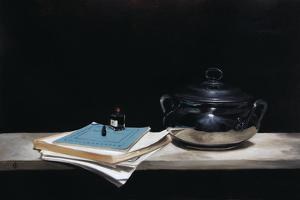 Silver Pot, Paper, Pen and Ink, 2009 by James Gillick