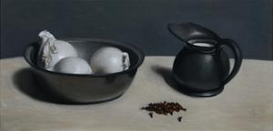 Spanish White Onions, Milk Jug and Cloves, 2013 by James Gillick
