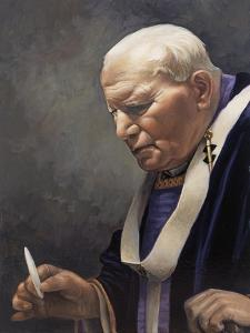 Study for a Portrait of Pope John Paul II (1920-2005) 2005 by James Gillick