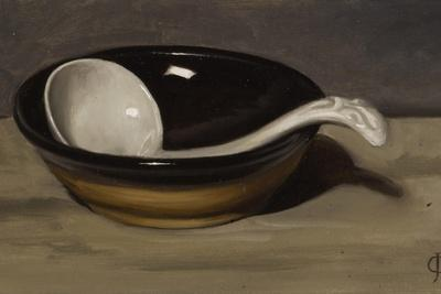 Welsh Bowl and Pottery Spoon