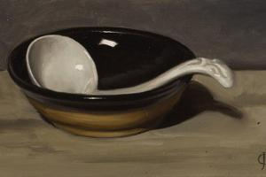 Welsh Bowl and Pottery Spoon by James Gillick