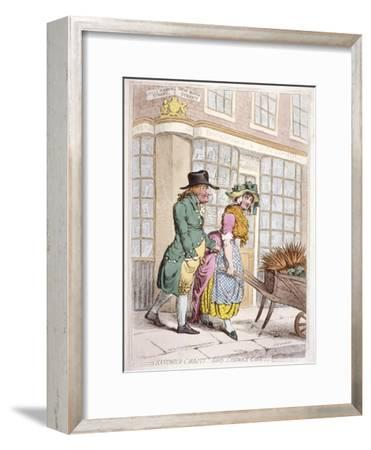 A Leering Man Making Advances to a Girl, New Bond Street, Westminster, London, 1796
