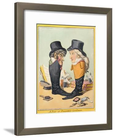 A Pair of Polished Gentlemen, Published by Hannah Humphrey in 1801