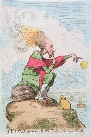 A Witch, Upon a Mount's Edge, or Fuzelli, Published by Hannah Humphrey in 1791