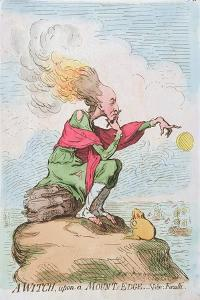 A Witch, Upon a Mount's Edge, or Fuzelli, Published by Hannah Humphrey in 1791 by James Gillray