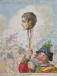 Buonaparte: 48 Hours after Landing! Published by Hannah Humphrey in 1803 by James Gillray