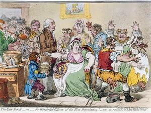 Cartoon: Vaccination, 1802 by James Gillray