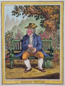 Delicious Weather, Published by Hannah Humphrey in 1808 by James Gillray