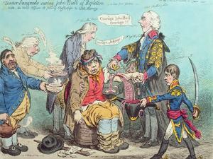 Dr Sangrado Curing John Bull of Repletion by James Gillray