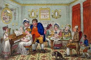 Farmer Giles and His Wife Showing Off their Daughter Betty to their Neighbours by James Gillray
