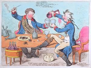 God Save the King- in a Bumper, or an Evening Scene Three Times a Week at Wimbleton by James Gillray