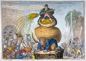 John Bull and the Sinking Fund, 1807 by James Gillray