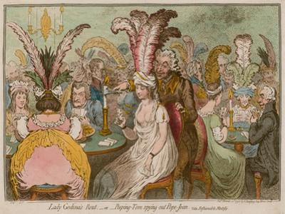 Lady Godina's Rout, Or, Peeping-Tom Spying Out Pope-Joan by James Gillray