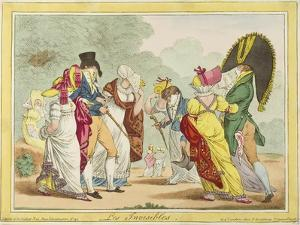 Les Invisibles, 1810 by James Gillray