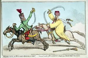 Mamlouk Et Hussard Republicain by James Gillray