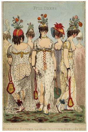 Parisian Ladies in their Full Winter Dress for 1800, 1799