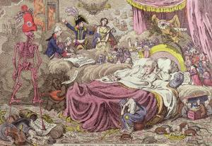 Political Dreamings, Visions of Peace, Prospective Horrors by James Gillray