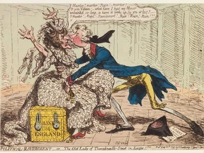 Political Ravishment, or the Old Lady of Threadneedle Street in Danger!, 1797