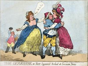 The Devonshire, or Most Approved Method of Securing Votes, 1784 by James Gillray