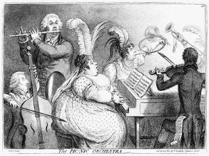 The Pic-Nic Orchestra, James Gilray, 1802 by James Gillray