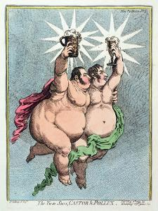 The Twin Stars, Castor and Pollux, Published by Hannah Humphrey in 1799 by James Gillray
