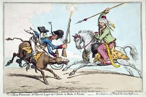 Tirailleur Francais Et Chevau Leger De L'Armee Du Pacha De Rhodes by James Gillray
