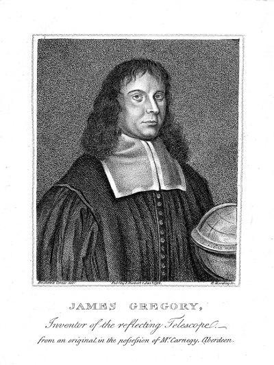 James Gregory, 17th Century Scottish Mathematician and Astronomer--Giclee Print