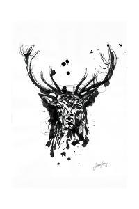 Inked Deer by James Grey